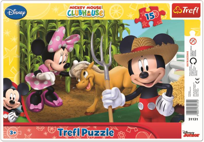 Framepuzzel Mickey Mouse 15 Stukjes