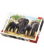 African elephants / Trefl - 1000 pcs - Legpuzzel