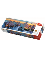 Panorama - Miami after dark / Trefl - 1000 pcs - Legpuzzel