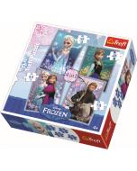 4 in 1 - Frozen / Disney Frozen - Legpuzzel