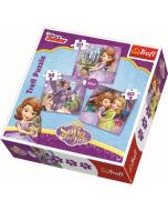 Puzzel 3 in 1  - Sofia het Prinsesje / Disney - Legpuzzel