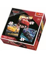 3 in 1 -  Cars 3 / Disney Cars - Legpuzzel