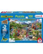 In het rijk van de Dinosauriers, 100 stukjes - Puzzel
