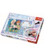 Puzzel met marker 70 pcs / Disney Frozen - Legpuzzel