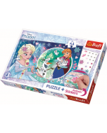 54 pcs plus stickers / Magical power of Elsa / Disney Frozen - Legpuzzel