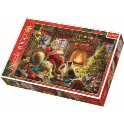 Resting by the fireplace / Trefl - 1000 pcs - Legpuzzel