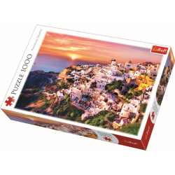 Sunset over Santorini - 1000 stukjes - Legpuzzel
