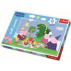 Maxipuzzel  / Feest! / Peppa Pig, 24 stukjes - Legpuzzel