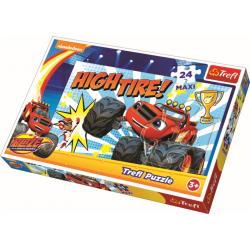 Maxipuzzel  / Blaze en de Monsterwielen, 24 stukjes - Legpuzzel