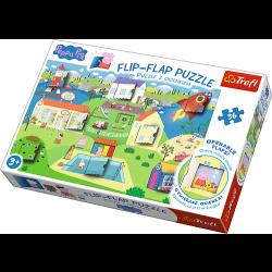 Flip-flap puzzel - De wereld van Peppa Pig, 36 stukjes - Puzzel