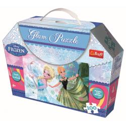 Glampuzzel  - Anna and Elsa, 100 stukjes - Puzzel
