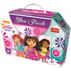 Glampuzzel  - Dora and Friends, 50 stukjes - Legpuzzel