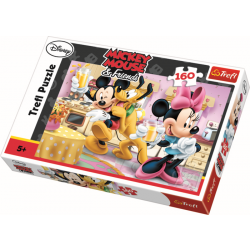 Happy afternoon / Mickey Mouse, 160 stukjes - Puzzel