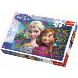 Anna and Elsa / Frozen Disney - 100 pcs - Legpuzzel