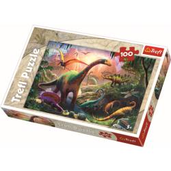 Dinosaurs' land / Trefl - 100 pcs - Legpuzzel