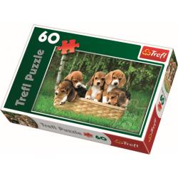 Beagle Puppies,  60 stukjes - Puzzel