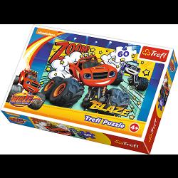 Blaze en de Monsterwielen, 60 stukjes - Puzzel