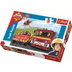 Brandweerman Sam, 30 stukjes - Legpuzzel