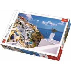 Santorini Griekenland, 1500 stukjes - Puzzel