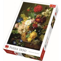 Still life with flowers, 1500 stukjes - Puzzel