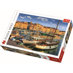 Old Port in Saint Tropez / Trefl - 1500 pcs - Legpuzzel
