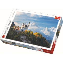 Slot Neuschwanstein in de Beierse Alpen, 1500 stukjes - Puzzel