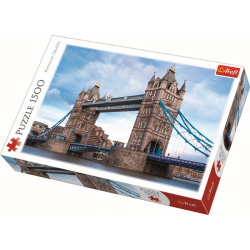 The Tower Bridge over Thames river / Trefl - 1500 pcs - Legpuzzel