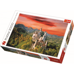The Neuschwanstein Castle, Bavaria / Trefl - 2000 pcs - Legpuzzel