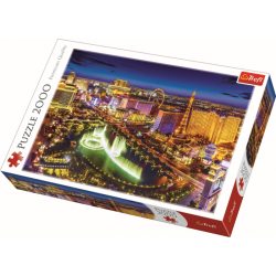 Las Vegas by night / Trefl - 2000 pcs - Legpuzzel