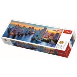 Panorama - Miami after dark / Trefl - 1000 pcs - Legpuzzel