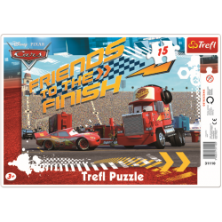 Framepuzzel 15 pcs - Lightning and Mack / Disney Cars - Legpuzzel
