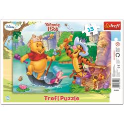 Framepuzzel  - Winnie the Poeh, 15 stukjes - Legpuzzel