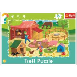 Framepuzzel 15 pcs - Farm / Trefl - Legpuzzel
