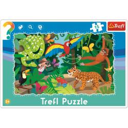 Framepuzzel 15 pcs - Tropical forest / Trefl - Legpuzzel