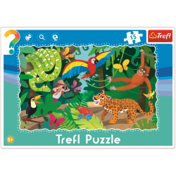 Framepuzzel  - Tropisch Bos, 15 stukjes - Legpuzzel