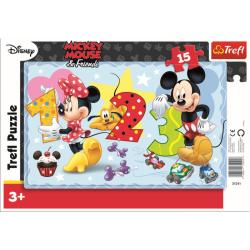 Framepuzzel 15 pcs - Let's count together / Disney - Legpuzzel