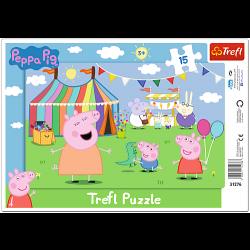 Framepuzzel  - Peppa Pig, 15 stukjes - Puzzel