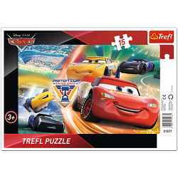 Framepuzzel  - Disney Cars, 15 stukjes - Puzzel