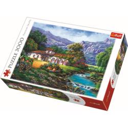 Hacienda bij de stroom, 3000 stukjes - Puzzel