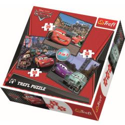 3 in 1 - Reis door Europa /  Cars - Puzzel