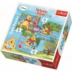 3 in 1 - Let's play / Disney Winnie The Pooh - Legpuzzel