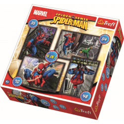 4 in 1 - Spiderman / Disney Marvel Spiderman - Legpuzzel