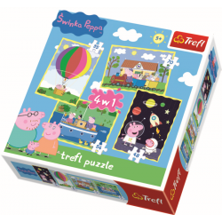 4 in 1 - Peppa's adventures / Peppa Pig - Legpuzzel