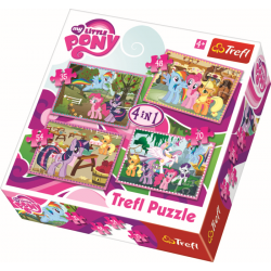 4 in 1 -  My Little Pony - Legpuzzel