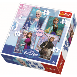 4 in 1 - Frozen / Disney - Legpuzzel
