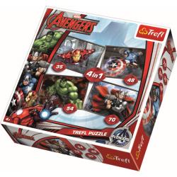 4 in 1 - Avengers / Disney Marvel - Legpuzzel