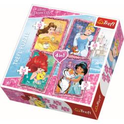 4 in 1 - With friends / Disney Princess - Legpuzzel