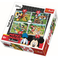 4 in 1 - Playing in the park / Disney Mickey Mouse - Legpuzzel