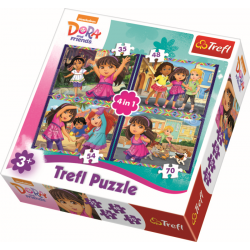 4 in 1 - Dora and Friends - Legpuzzel