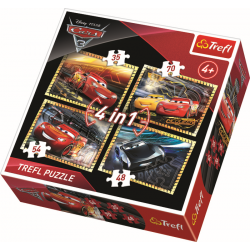 4 in 1 - Cars 3 - Legpuzzel